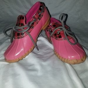 Sperry Top Sider Pink Duckie Rain Shoes 2M